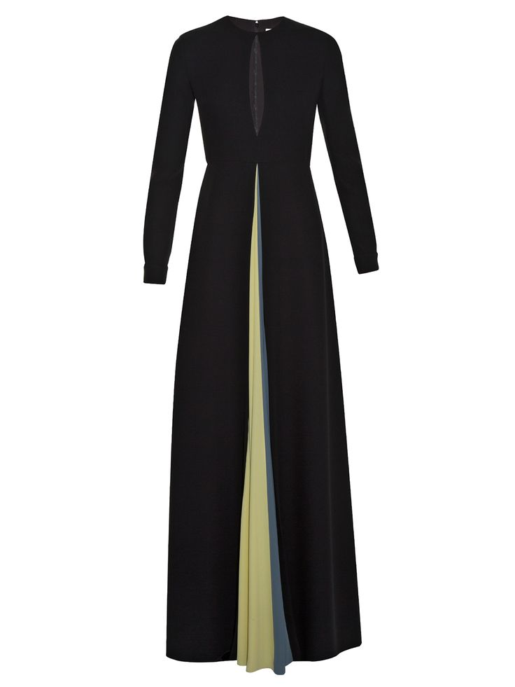 Contrasting-vent silk-cady gown | Valentino | MATCHESFASHION.COM
