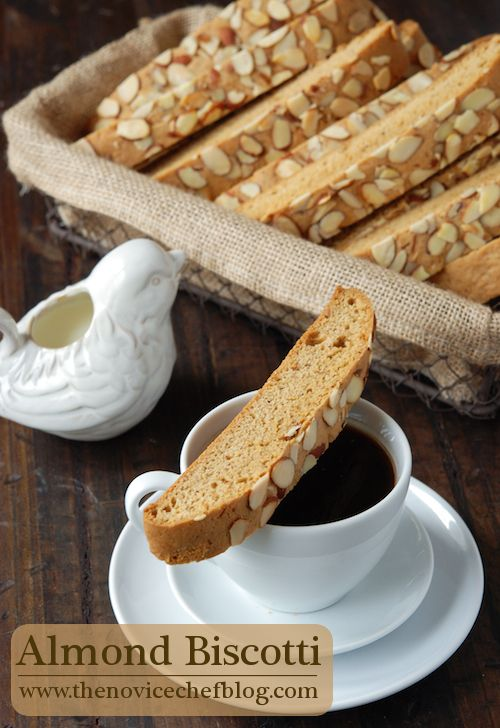 Almond Biscotti for dipping in a cup of coffee on those cold mornings ahead.