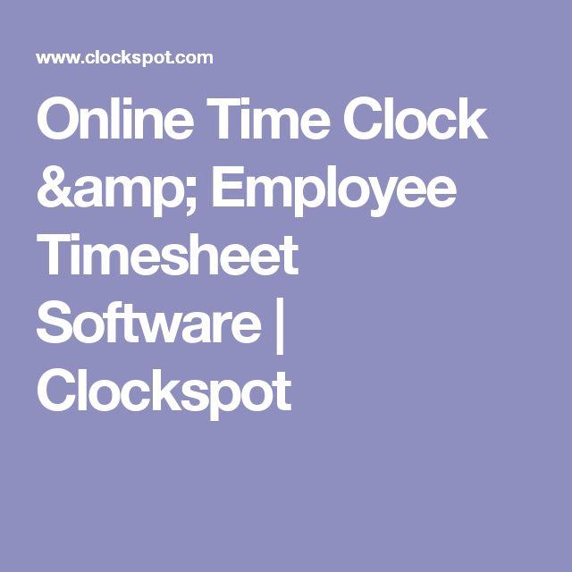 Online Time Clock & Employee Timesheet Software | Clockspot