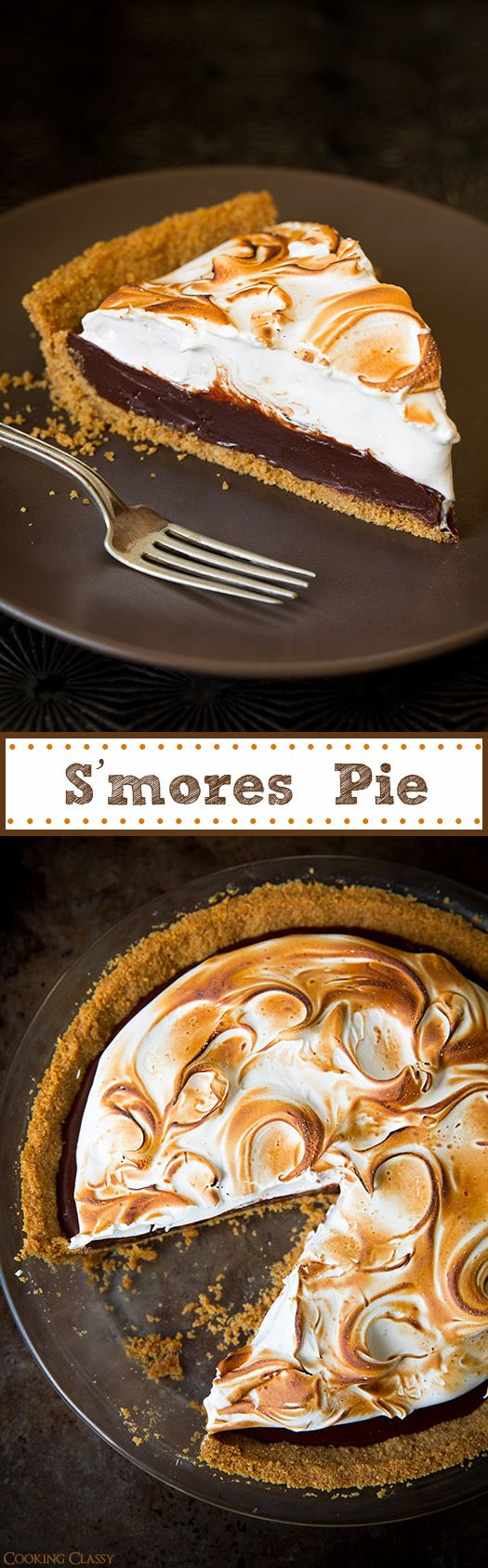 S'mores Pie - deliciously decadent!