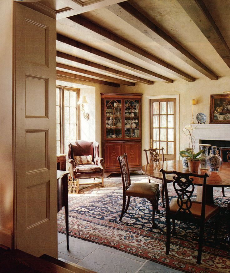 Architect James F Carter Birmingham Alabama Dining Room With Beams He Designed