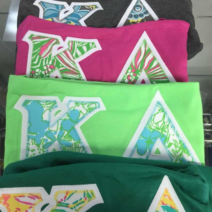 Some cute shirts going out to some lucky kappa delta!