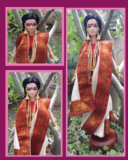 Kiyaa and her creator Sailaja story featured on pinksworth.com; Kiyaa in Bengali look