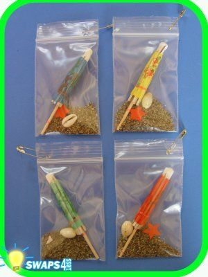 Beach-in-a-bag. You could buy the kit at Girl Kit-Swaps4Less, or make it yourself!