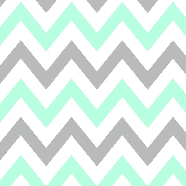 MINT & GRAY CHEVRON Art Print by natalie sales | Society6