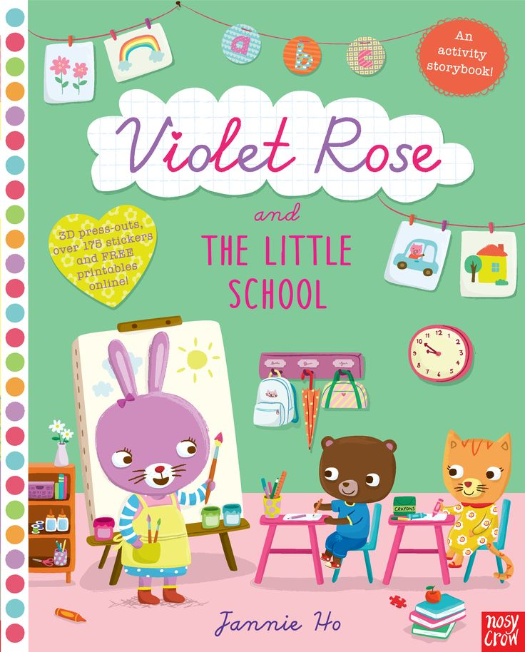 Violet Rose and the Little School Activity Book, by Jannie Ho. Find out more: http://nosycrow.com/product/violet-rose-and-the-little-school-sticker-activity-book/