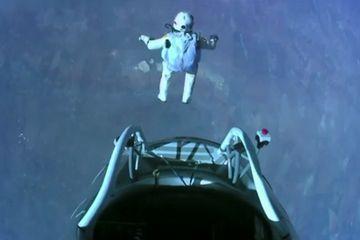 Felix Baumgartner makes the highest skydive ever Oct. 14, 2012.