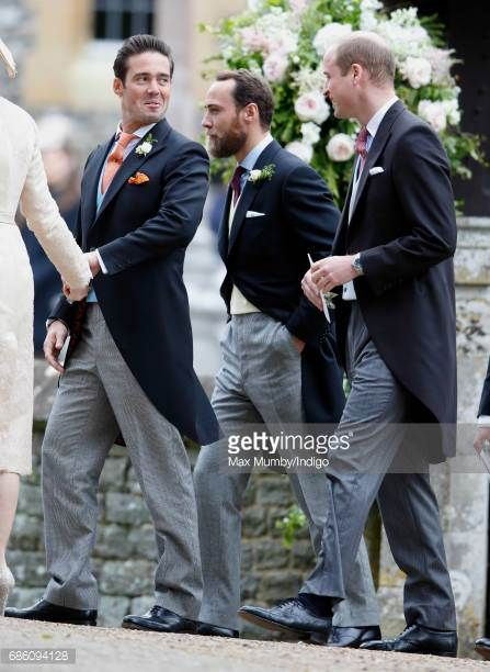 Spencer Matthews James Middleton and Prince William Duke of Cambridge at the Wedding of Pippa Middleton and James Matthews at St Mark's Church on May 20 2017 in Englefield Green