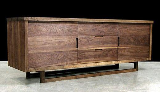 Wohnzimmermöbel Kommode-exotische dunkle Holzfarbe