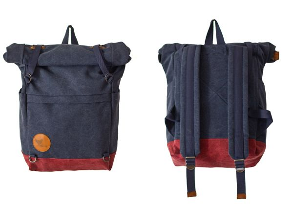 "Summer 2014 - ""Urban Nomads"" - ULRIK - DENIM BLUE/DARK RED - Blind Chic."