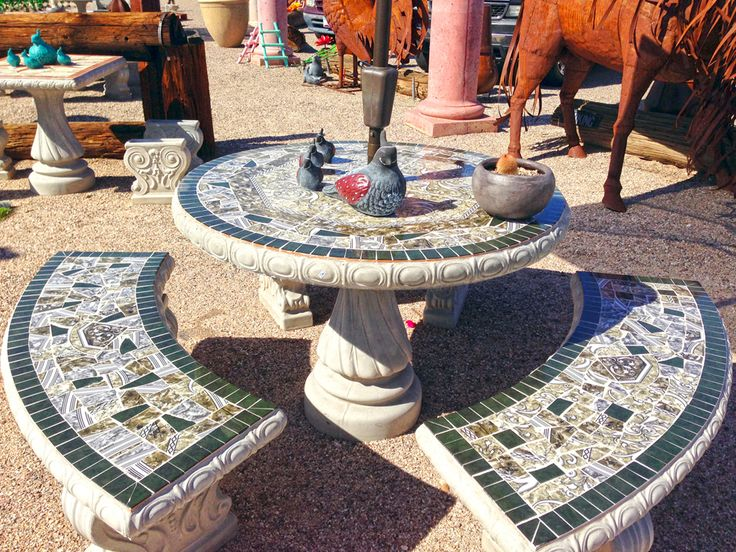 Concrete Patio Tables Benches   Google Search