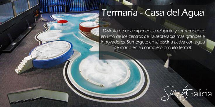 el maravilloso #SPA  de @termariacoruna  Casa del Agua está incluido en esta escapada romántica  al Hotel Carrís Marineda****  desde 75€ pers/noche     #SienteGalicia #ACoruña #Carrís #Marineda #MarinedaCity #talaso #Galicia
