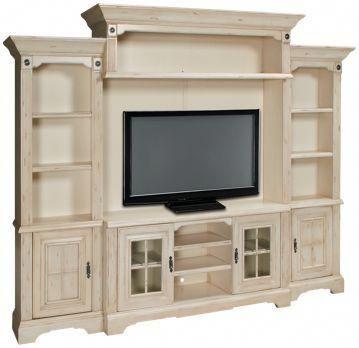 Oak Furniture West Antique White 5 Piece Entertainment Center