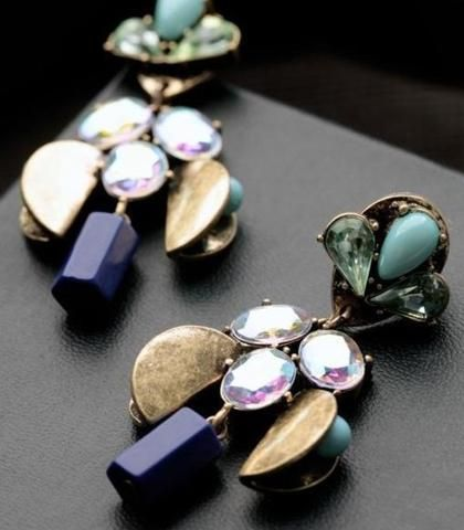 Crystal Dangle Earrings  All Things Lovely Shop