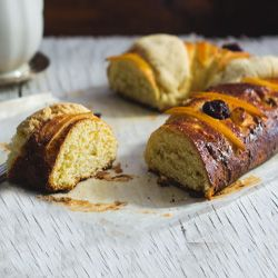 A traditional recipe for Rosca de Reyes- which can be made with or without a mixer