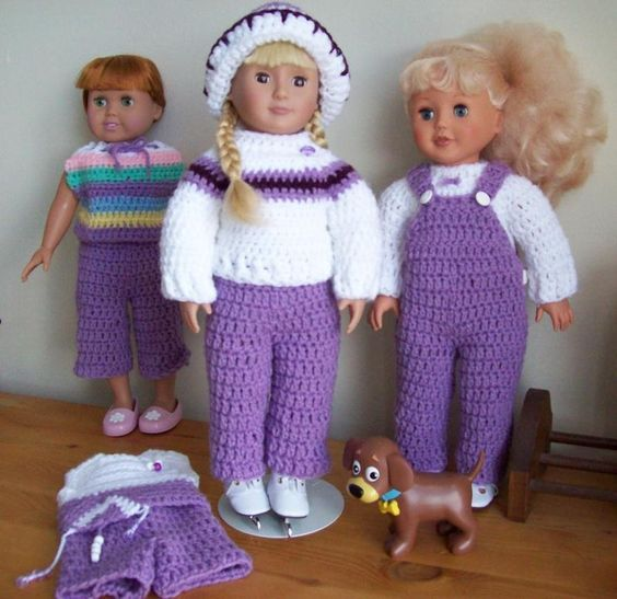 "Seasoned Just Right! – 18"" Doll Ensemble - Free Original Patterns - Crochetville"