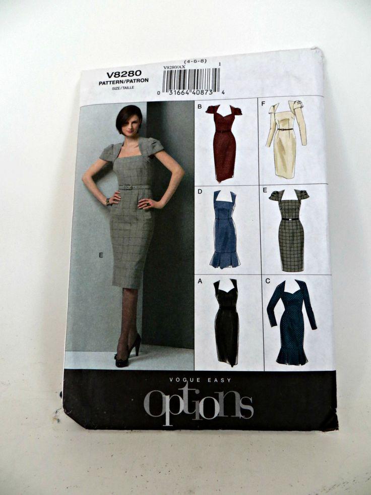 Vintage Vogue Pattern Dress by FabulousFunFashion on Etsy