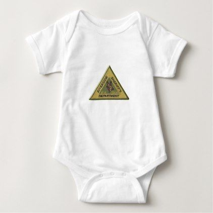 Riverside County Sheriff K-9 Baby Bodysuit - law gifts lawyer business diy cyo personalize