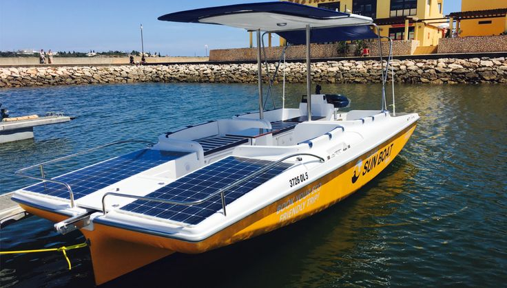 Our new solar boat for tours on the Arade River.  Please contact us if you wish to go on a solar boat tour on the Arade River!  www.algarvesunboat.com  #solarboat #boattours #boattrips #portimao #praiadarocha #araderiver