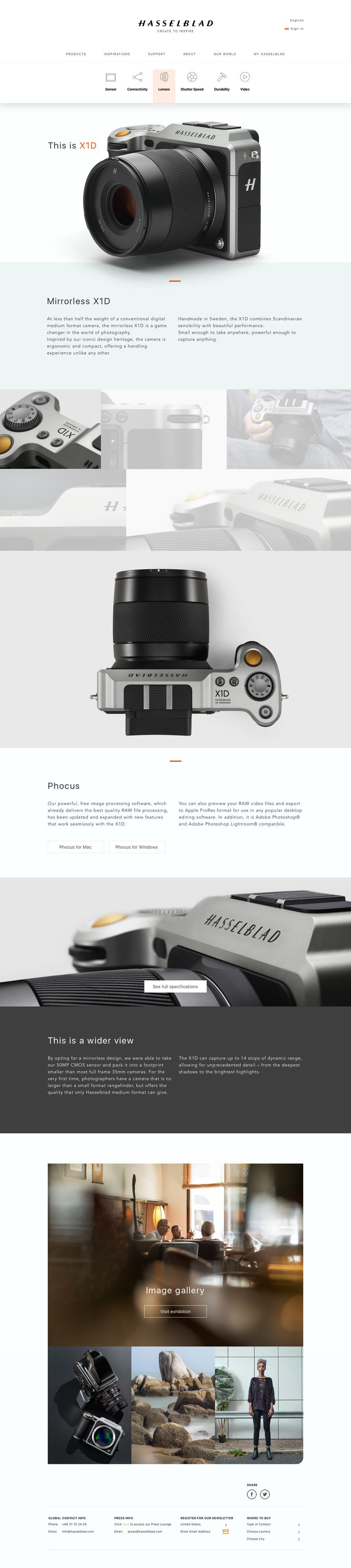 Hasselblad xd1 about page