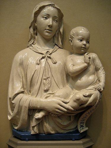 Luca della Robbia   Madonna and Child with Scroll   #TuscanyAgriturismoGiratola