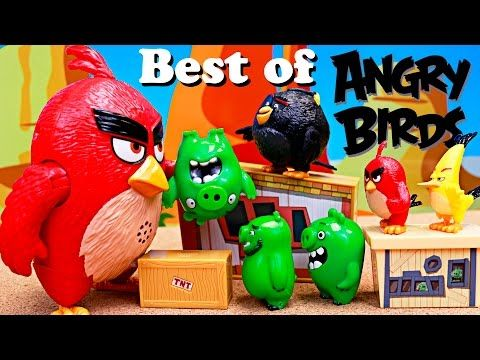 Angry Birds Best of Parodies with Red Bird with Chuck and Bad Piggies of the Angry Birds Movie Toys - YouTube