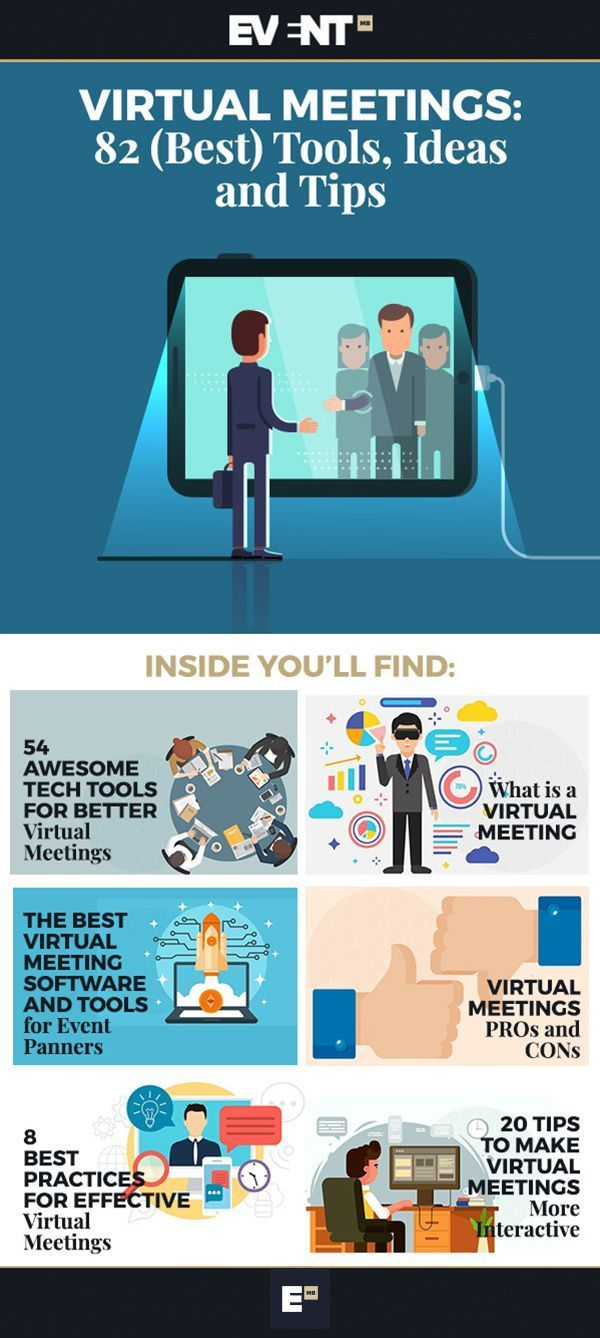 Virtual Meetings 99 Best Tools Ideas And Tips Event Technology Event Tech Event Planning Tools At meeting or in meeting