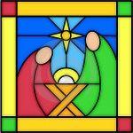 glas in lood geboorte van Jezus kerst nativity