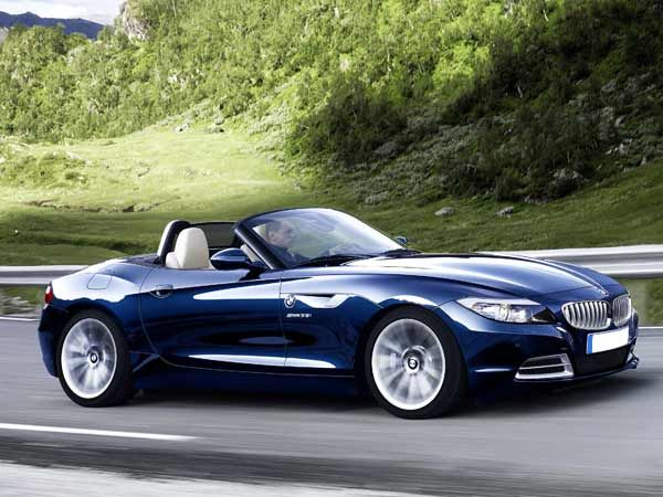 Blue BMW Z4