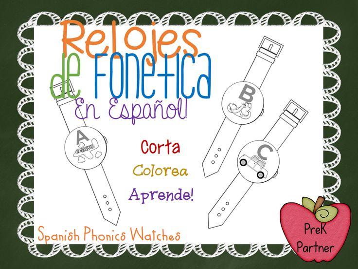 22 best spanish phonics images on pinterest dual language spanish spanish phonic watches httpteacherspayteachersproductabc fandeluxe Image collections