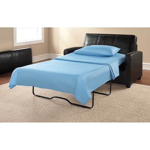 Mainstays Sofa Sleeper, Black Faux Leather | New House Decorating Ideas |  Pinterest | More - Mainstays Sofa Sleeper Cymun Designs
