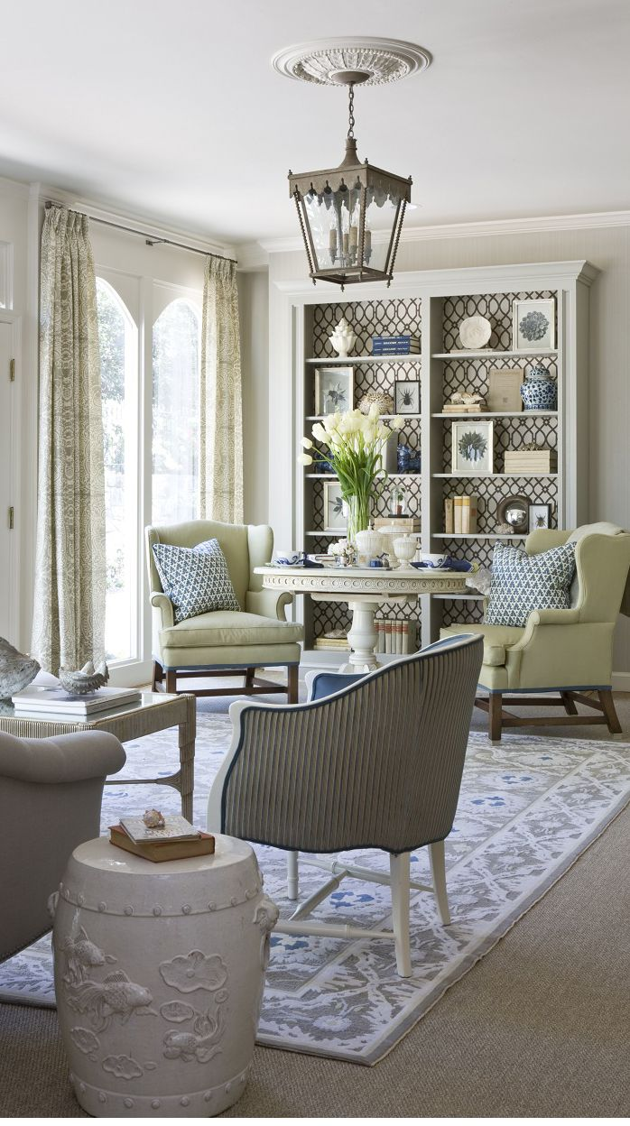 Superb Beige, Blue And Green Living Room Design By Marika Meyers Interiors