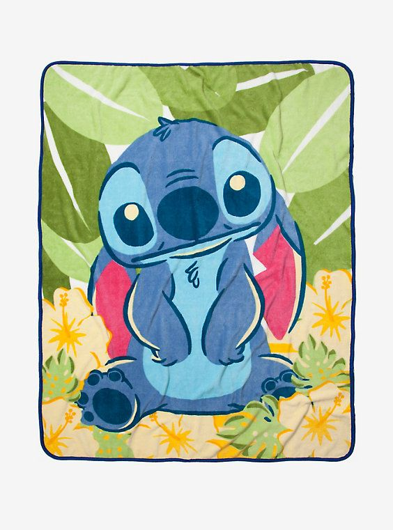 Disney Lilo & Stitch Tropical Throw Blanket | Hot Topic