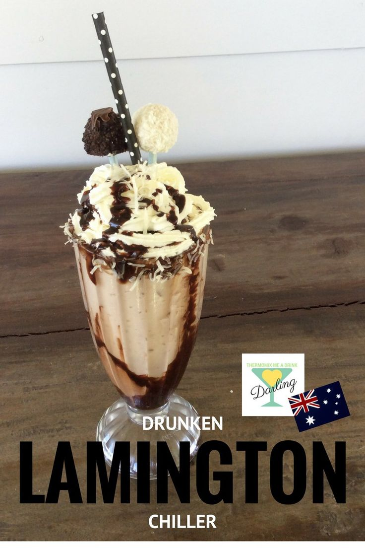 What's more Aussie than a Lamington? A Drunken Lamington Chiller! Thermomix Cocktail Recipe