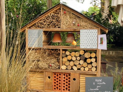 17 best images about bug habitats on pinterest gardens insect hotel and ladybug house - Construire une maison pour insectes ...