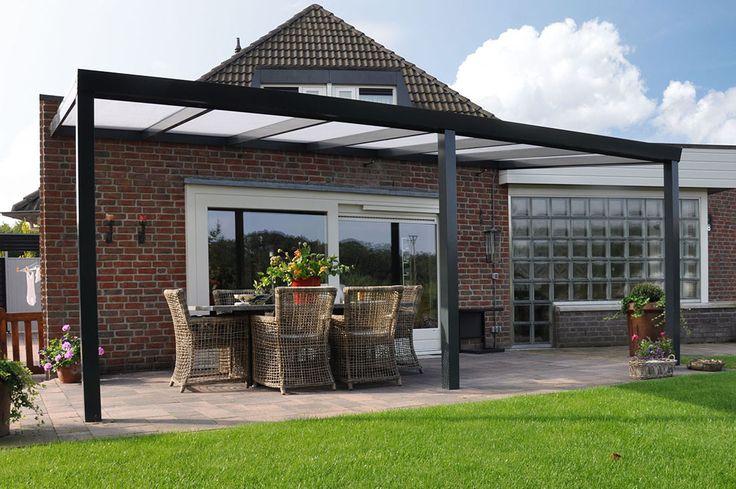 Aluminium Terrassenüberdachung in anthrazit. Größe 400x200cm #Terrasseueberdachung #modern #grau #style #überdachung #garten #aluminium