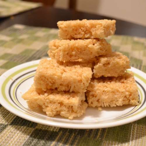 Honey Rice Bubble Slice