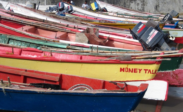 Fishing boats in choiseul st lucia st lucia caribbean for Deep sea fishing st lucia