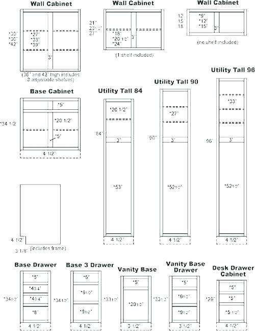 Standard Cabinet Widths, Standard Depth Of Upper Kitchen Cupboards
