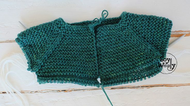 Tutorial saco de bebe tejido dos agujas soy woolly - Puntos para calcetar ...
