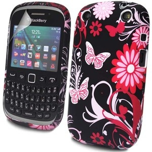 FLOWER BUTTERFLY GEL FOR BLACKBERRY CURVE 9320 HOT PINK CASE COVER + PROTECTOR | eBay