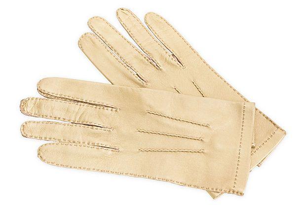 Chanel Gold Metallic Gloves on OneKingsLane.com