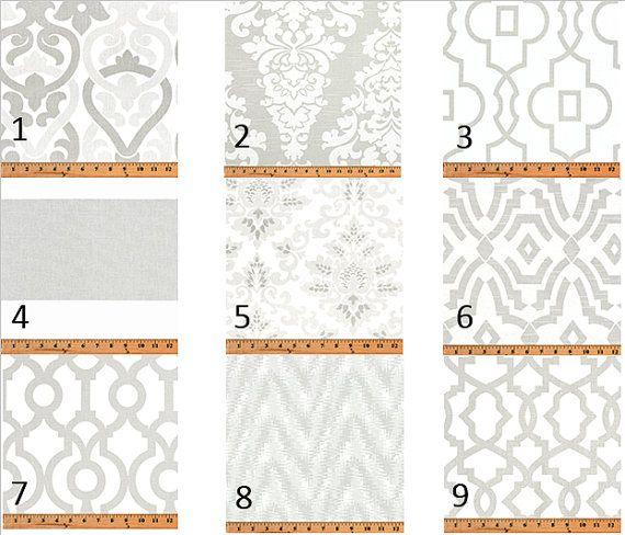 Французский серый Окно печати Окно Curtains- Treatments- Пара 50-дюймовый широкоэкранный драпировки Panels-