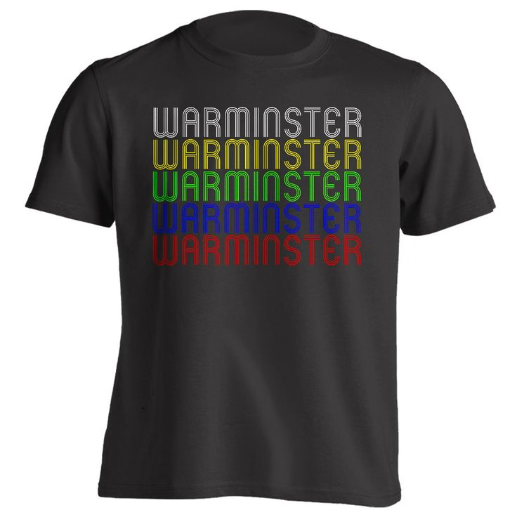 Show off your home town pride by wearing this unique retro style WARMINSTER tee shirt. Tell the world how much you love Warminster, PA by wearing this comfortable vintage style t-shirt. This clever sh