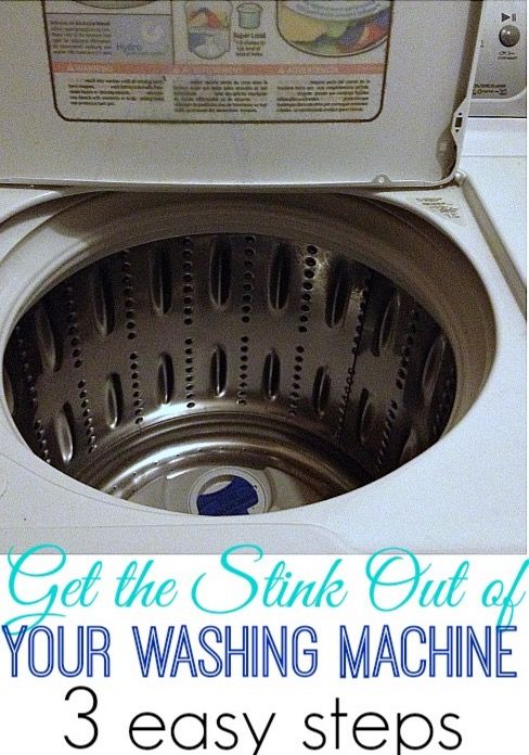 how to clean a stinky washing machine