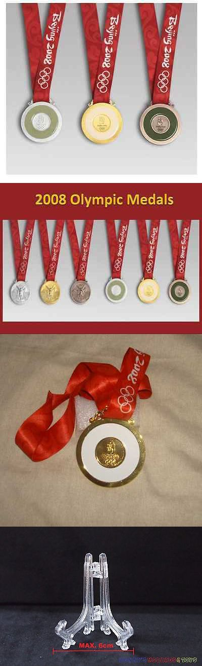 Other Vintage Sports Mem 50133: Beijing 2008 Olympic Medal Set (Gold Silver Bronze) Silk Ribbons And Display Stand -> BUY IT NOW ONLY: $59 on eBay!