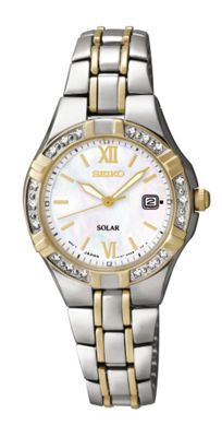 Seiko Ladies two-tone stainless steel bracelet watch- at Debenhams.ie