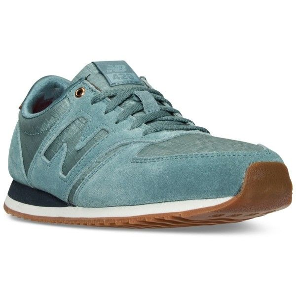 New Balance Women's 420 Casual Sneakers from Finish Line (4.090 RUB) ❤ liked on Polyvore featuring shoes, sneakers, new balance trainers, low top, new balance shoes, lightweight shoes and new balance
