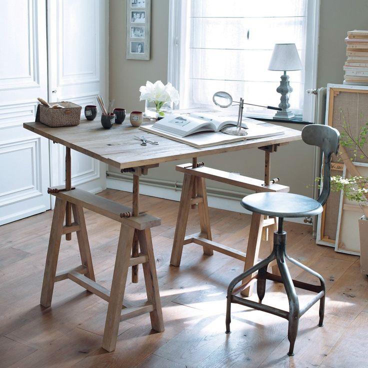table maison du monde long island perfect vintage desk in. Black Bedroom Furniture Sets. Home Design Ideas