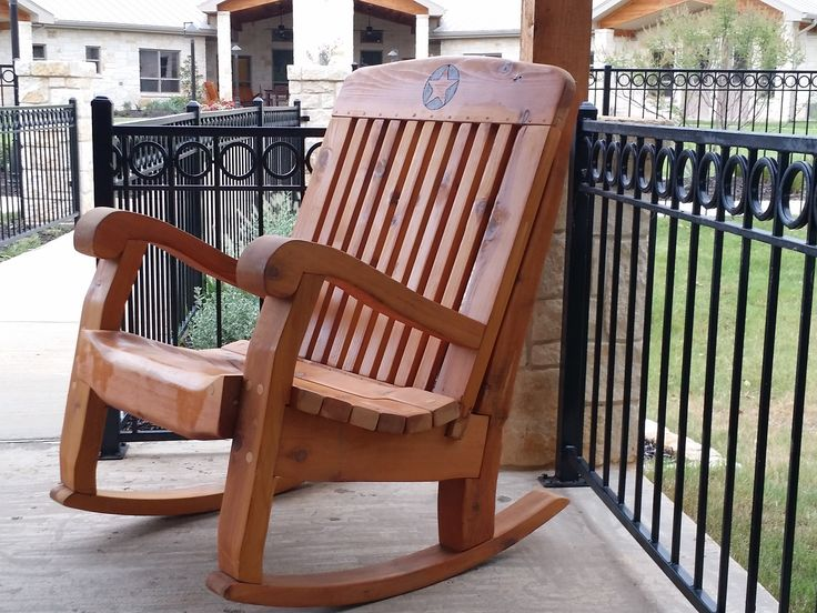 Western Cedar Large Rocking Chair From Rockerman Of Texas. Large Single  Rockers Are Wide At Widest Part Of Seat.
